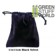 Velvet Black POUCH with Drawstrings