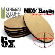 MDF Bases - AOS Oval 90x52mm