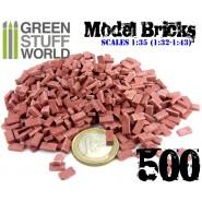 Model Bricks - Dark Red x500