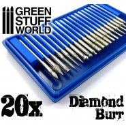 Diamond Burr Set with 20 tips