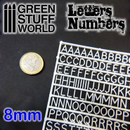 Letters and Numbers 8 mm
