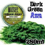 Static Grass Flock - Dark Green - 280 ml - XL