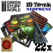 2D Terrain set - 22 pieces
