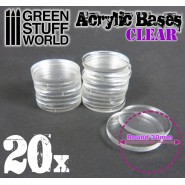 Acrylic Bases - Round 30 mm CLEAR