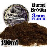 Static Grass Flock 3 mm - BURNT Brown - 180 ml