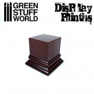 Square Top Display Plinth 4x4 cm - Hazelnut Brown