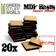MDF Bases - Square 20mm