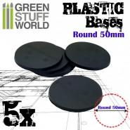 Plastic Bases - Round 50 mm BLACK