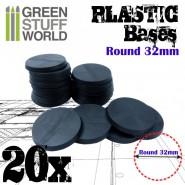 Plastic Bases - Round 32mm BLACK