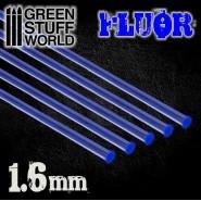 Acrylic Rods - Round 1.6 mm Fluor BLUE