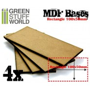 MDF Bases - Rectangle 100x50mm