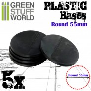 Plastic Bases - Round 55 mm BLACK