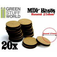 MDF Bases - Round 25mm