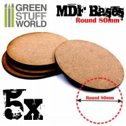 MDF Bases - Round 80mm