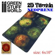 2D Neoprene Terrain - Forest with 6 trees