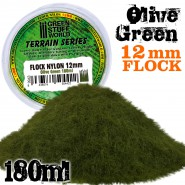 Static Grass Flock 12mm - Olive Green - 180 ml
