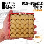 MDF Movement Trays 25mm 5x5 - Skirmish Lines
