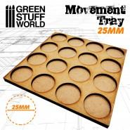 MDF Movement Trays 25mm 4x4 -  Skirmish Lines