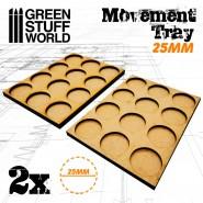 MDF Movement Trays 25mm 3x4 -  Skirmish Lines
