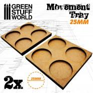 MDF Movement Trays 25mm 2x2 -  Skirmish Lines