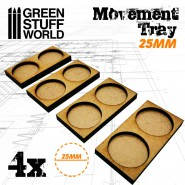 MDF Movement Trays 25mm 2x1 - Skirmish Lines