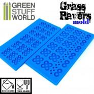 2x 硅胶模具 - 草坪砖