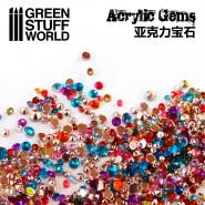 Micro Acrylic Gems - 1mm to...