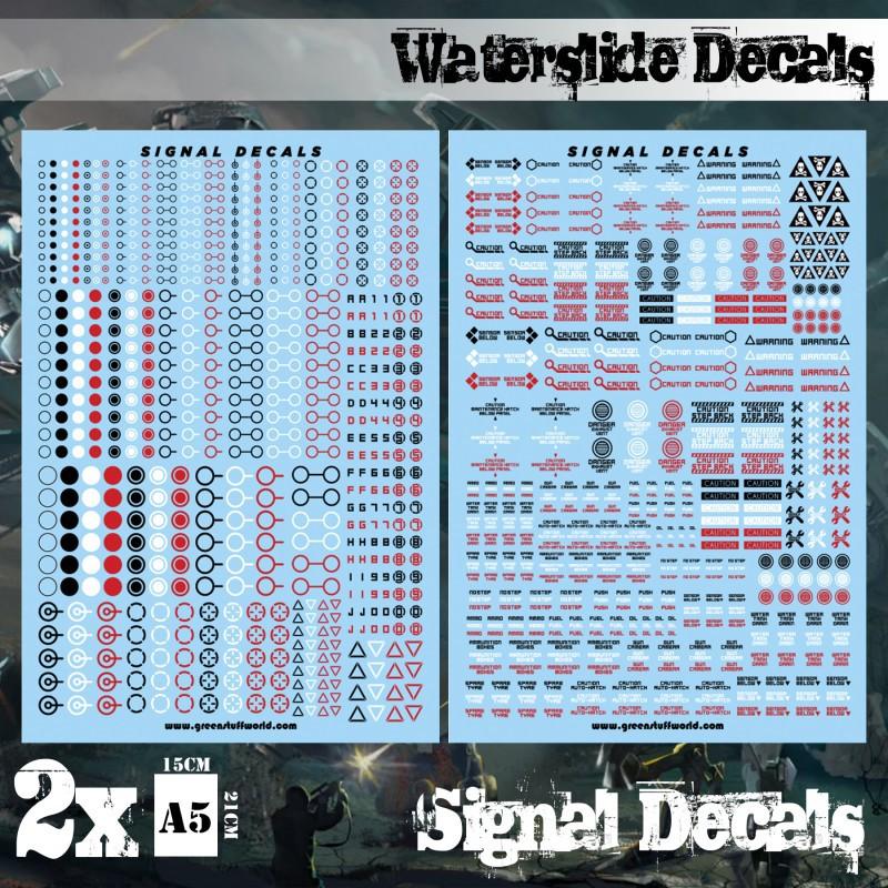 Waterslide Decals - Robot Signals