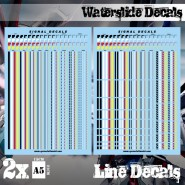 Waterslide Decals - Lines