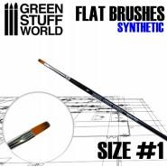 Flat Synthetic Brush Size 1