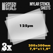 A4 Mylar Stencil Sheets x3