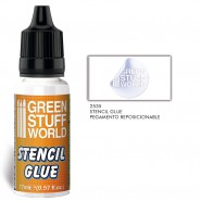 Repositionable Stencil Glue