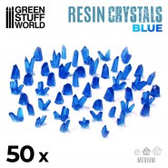 BLUE Resin Crystals - Medium