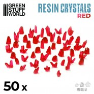 RED Resin Crystals - Medium