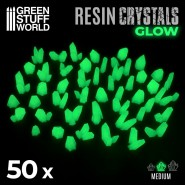 GREEN GLOW Resin Crystals -...