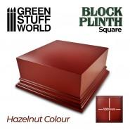 Square Top Display Plinth 10x10cm - Hazelnut Brown