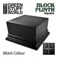 Square Top Display Plinth 10x10cm - Black