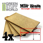 MDF Bases - Rectangle 100x60mm