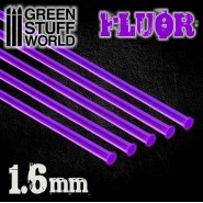 Acrylic Rods - Round 1.6 mm Fluor PURPLE