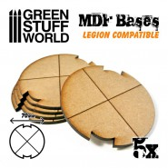 MDF Bases - Round 70 mm...