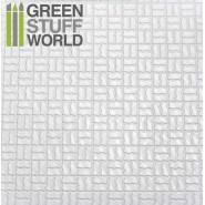 ABS Plasticard - OFFSET CURVED Textured Sheet - A4