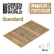 Letters and Numbers 4 mm STANDARD