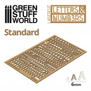 Letters and Numbers 6 mm STANDARD