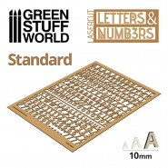 Letters and Numbers 10 mm STANDARD