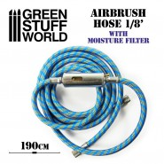 Airbrush Fabric Hose with Humidity Filter