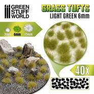 Grass TUFTS - 6mm self-adhesive - LIGHT GREEN