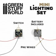 Mini lighting Set With switch and CR927 Battery