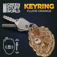 GSW skull Keyring - Fluor Orange