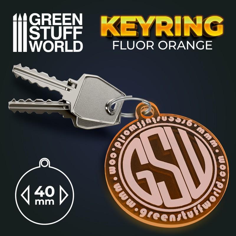 Round GSW logo Keyring - Orange