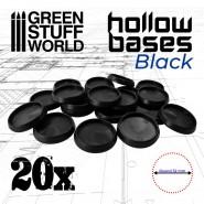 Hollow Plastic Bases - BLACK